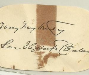 Yours Very Truly Rose Elizabeth Cleveland Authentic Signature