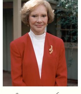 Rosalynn Carter Authentic Signature with Photo