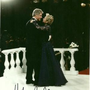Hillary Rodham Clinton Authentic Signature Dancing