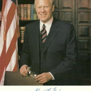 President Gerald Ford Authentic Signature on Photo