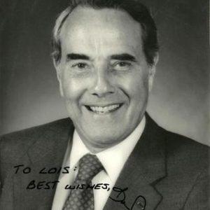 Bob Dole Authentic Signature to Louis