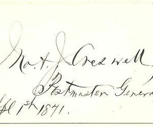John Creswell 1871 Authentic Signature
