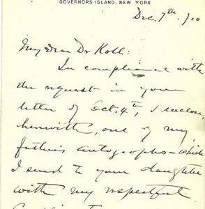 Frederick Grant (Son of U.S. Grant) Authentic Signature