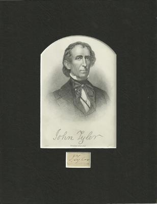 President John Tyler 1811 - 1815 - Authentic Signature - Matted