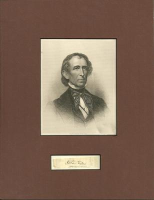 President John Tyler - Authentic Signature - Matted