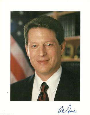 VP Al Gore Authentic Signature