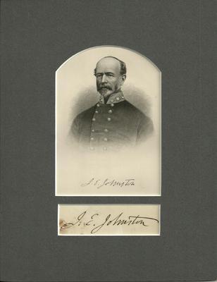 General Joe Johnston Civil War General Signature with Guarantee of Authenticity