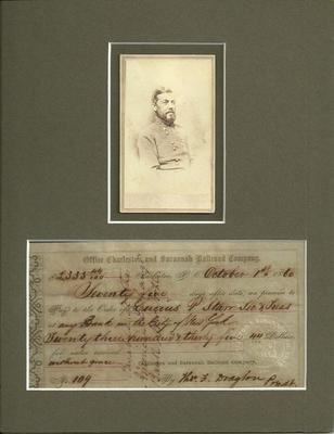 Thomas Drayton was a Brigadier General in the Confederate States during the American Civil War Authentic Signature