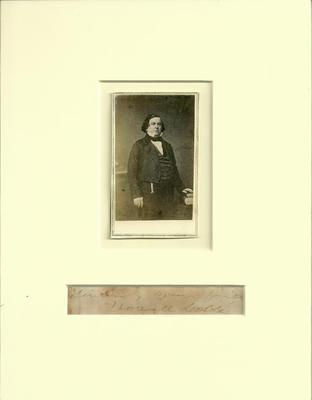 Howell Cobb Signature who was one of the founders of the Confederate States of America