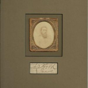 General John Bell Hood was a Confederate general during the American Civil War. Authentic Signature