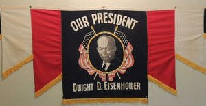 Our President Dwight D. Eisenhower Seven Section Banner Flag that measures 3' X 9'