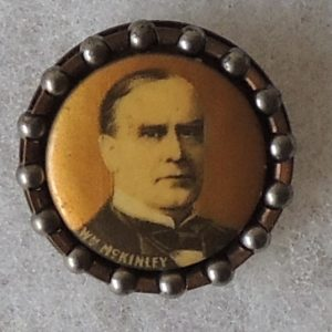 1 -1/8 inch William McKinley Campaign button