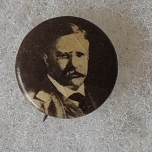 Theodore Roosevelt Campaign Button face view