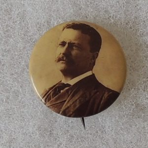 Very nice 7/8 inch Theodore Roosevelt Campaign Button