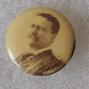 Beautiful 7/8 inch Theodore Roosevelt Campaign Button