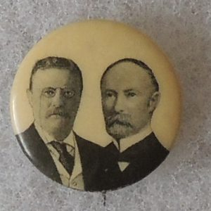 Very nice Theodore Roosevelt and Alton B. Parker Campaign Button