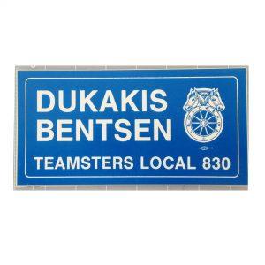 Dukakis Bentsen Teamsters Local 830 bumper sticker