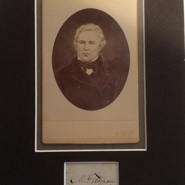 Millard Fillmore mounted cabinet card signature