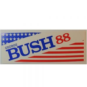 1988 George HW Bush Bumper Sticker that measures 9.25 inches wide