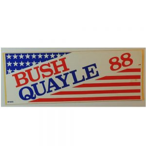 Bush Quayle Red, White, and Blue Bumper Sticker