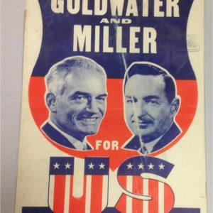 Goldwater and Miller An All - American Team for all America campaign poster
