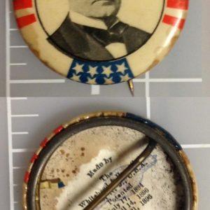William McKinley Campaign Button July 17