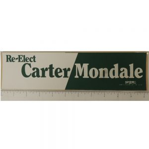 Re-elect Carter Mondale Bumper Sticker