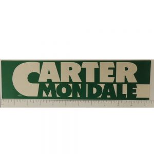 Carter Mondale Bumper Sticker white and green