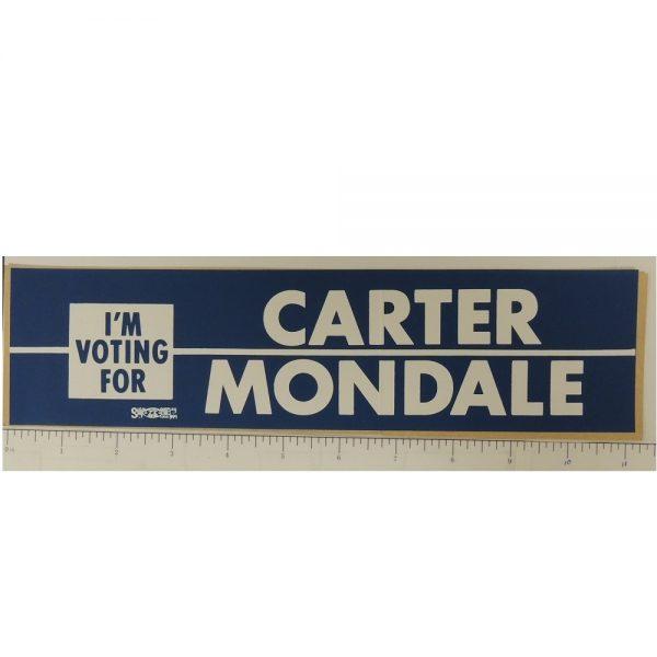 I'm Voting for Carter Mondale Bumper Sticker