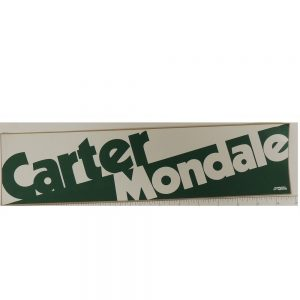 Carter Mondale Bumper Sticker Green White