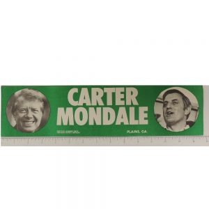 Face View Carter Mondale Bumper Sticker