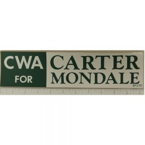 CWA for Carter Mondale Bumper Sticker