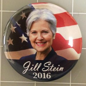 Jill Stein 2016 Face View Campaign Button