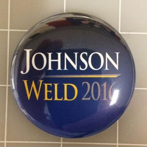 Johnson Weld Blue 2016 Campaign Button