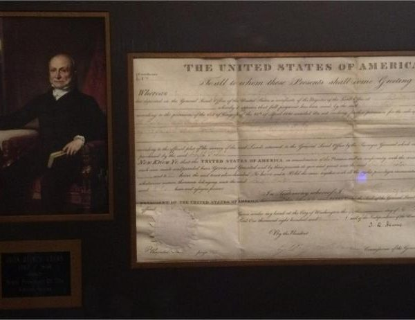 John Quincy Adams authentic signature signed J Q Adams