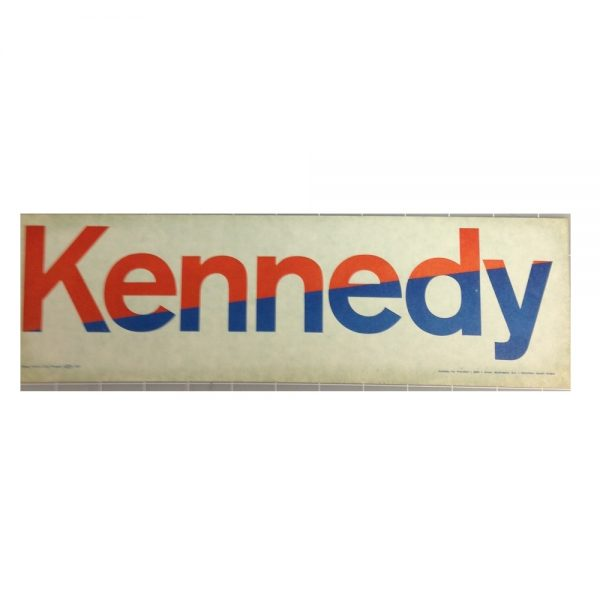Original Kennedy red, white and blue campaign stickers