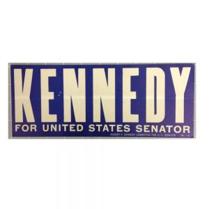 Kennedy for US Senator blue campaign sticker
