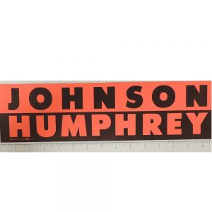 Johnson and Humphrey black and red bumper sticker