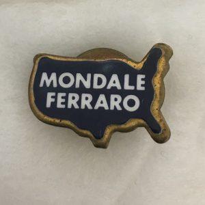 3/4 inch Mondale Ferraro Lapel Pin
