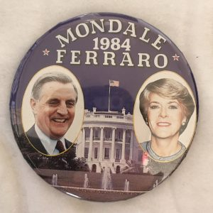 Mondale 1984 Ferraro both pictures campaign button