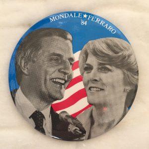 Mondale Ferraro 84 campaign button