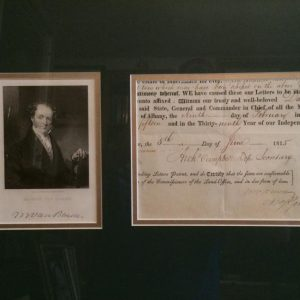 June 5th 1815 Martin Van Buren authentic signature