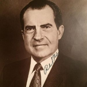 This is one of the cleanest Richard Nixon 8 X 10 photo with authentic signature on the collar