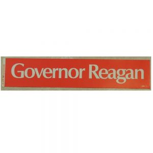 Governor Reagan Campaign Bumper Sticker