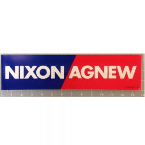 Red, White, and Blue Nixon Agnew Bumper Sticker