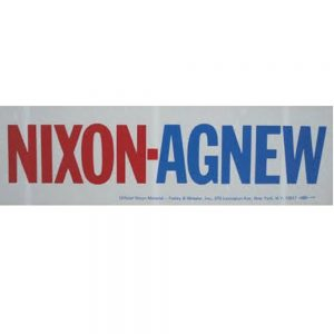 Red and blue Nixon-Agnew bumper sticker