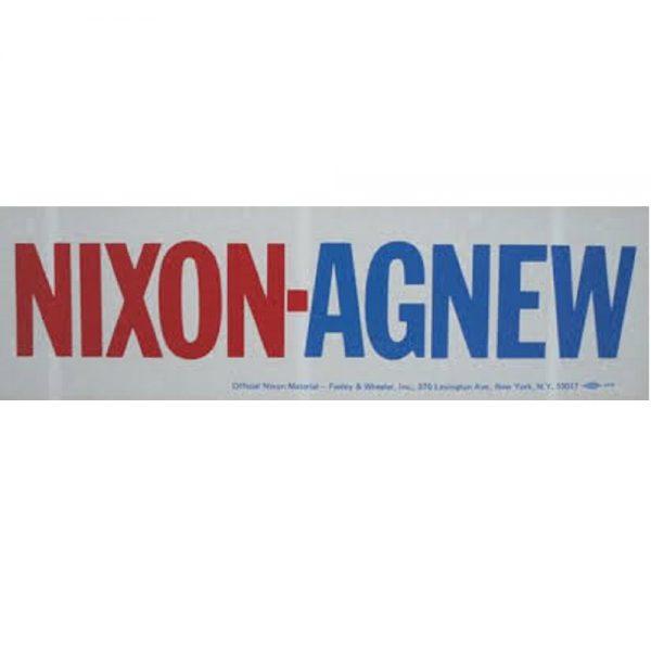 Red and blue Nixon-Agnew bumper sticker