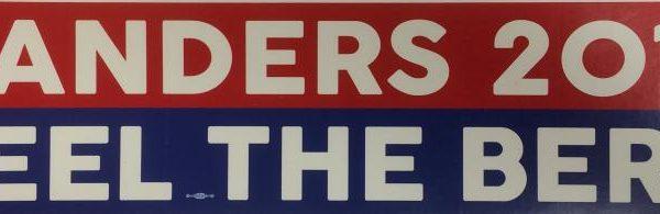 Bernie Sanders patriotic 2016 for President 6.5 inch bumper sticker