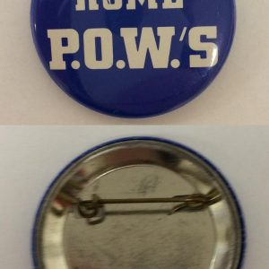 Welcome Home Blue and white P.O.W.S 2 inch button. Excellent condition front and back