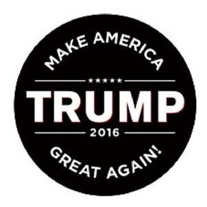 Make America Great Again round black sticker
